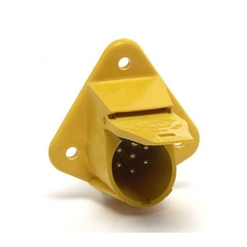 TRLR.CONNECT 13 POLE SOCKET BRIGHT YELLOW
