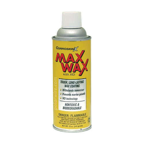 CORROSION X MAX WAX CANNOT SHIP VIA UPS/USPS