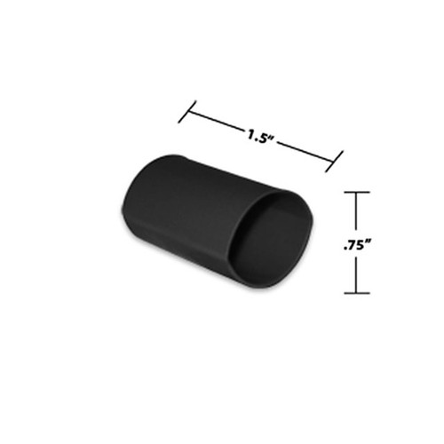 3/4 by 1-1/2 Inches Black Dual Wall Heat Shrink, Adhesive Lined, 3 to 1 Shrink Ratio