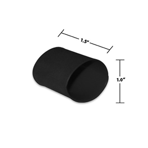 1 by 1-1/2 Inches Black Dual Wall Heat Shrink, Adhesive Lined, 3 to 1 Shrink Ratio