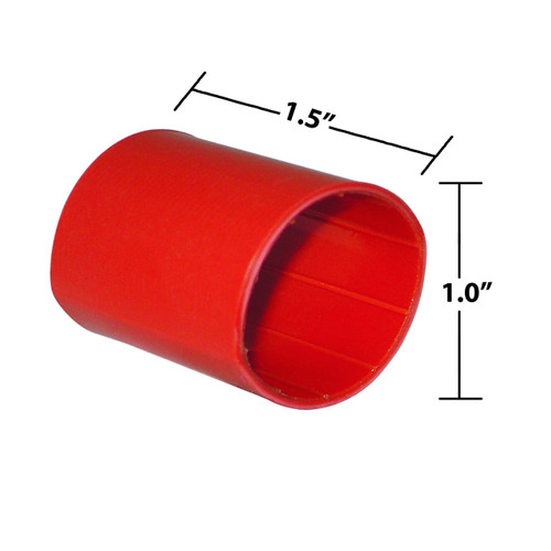 1 by 1-1/2 Inches Red Heavy Wall Heat Shrink, Adhesive Lined, 3 to 1 Shrink Ratio