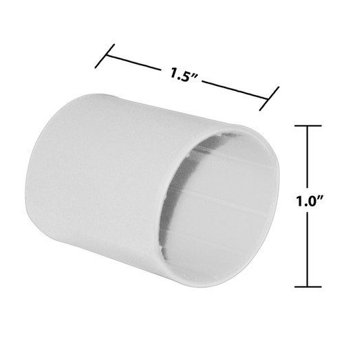 1 by 1-1/2 Inches White Heavy Wall Heat Shrink, Adhesive Lined, 3 to 1 Shrink Ratio