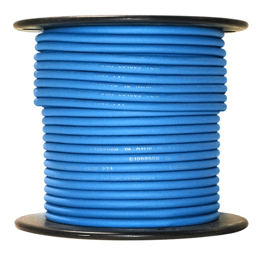 Arctic Ultraflex Blue Single Conductor Wire 100% copper tinned fine strand, 600v applications, 10 AWG Blue, 100 foot spool