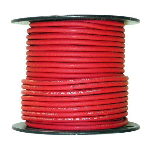 10 AWG Arctic Ultraflex Blue Single Conductor Wire 100% copper tinned fine strand, 600v applications, 100 foot spool Red