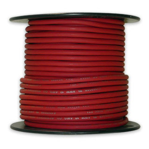 Arctic Ultraflex Cold Weather Flexible Wire 100 Foot Spool 12 AWG Red Single Conductor Wire tinned fine strand 100% copper