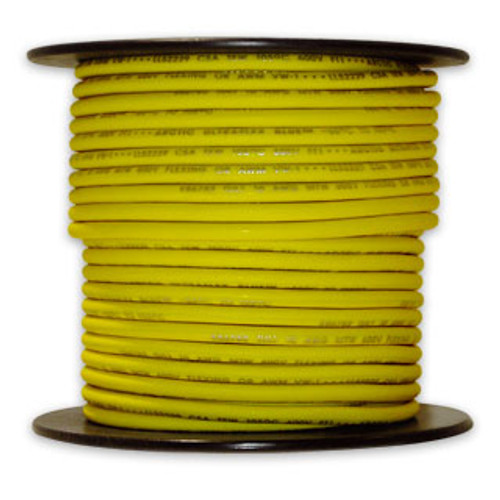 Arctic Ultraflex Cold Weather Flexible Wire 100 Foot Spool 12 AWG Yellow Single Conductor Wire tinned fine strand 100% copper