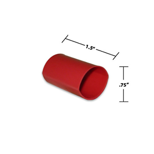 3/4 by 1-1/2 Inches Red Dual Wall Heat Shrink, Adhesive Lined, 3 to 1 Shrink Ratio