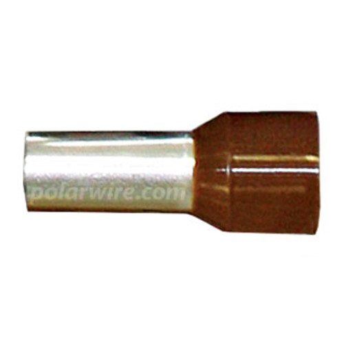 FERRULE 3-4GA BROWN INSULATED 25MM