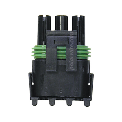 WEATHER PACK 3 PIN FEMALE  TOWER HOUSING