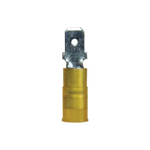 NYLON SLIDE-M 12-10GA.250  MALE 100 PACK MOLEX