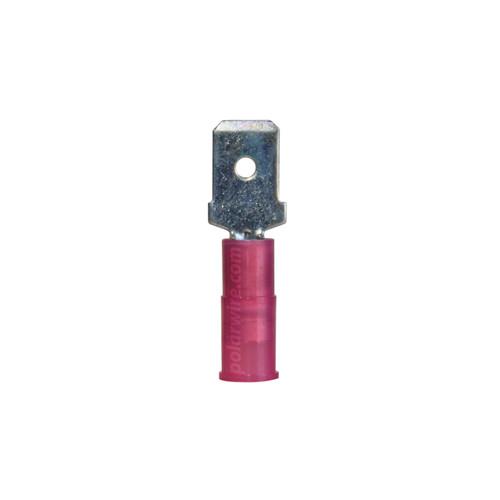 NYLON SLIDE-M 22-18GA.250  MALE 25 PACK MOLEX