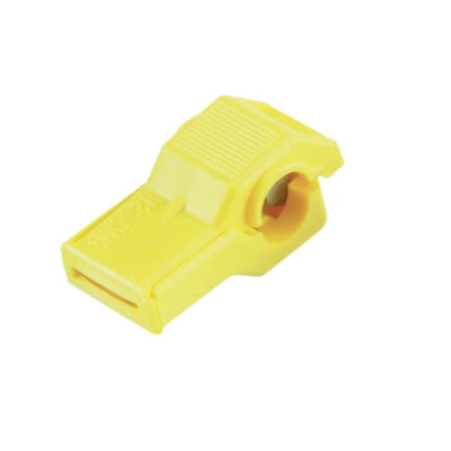 Yellow nylon insulated wire tap connector, 12-10 gauge, Molex Part Number  19216-0009