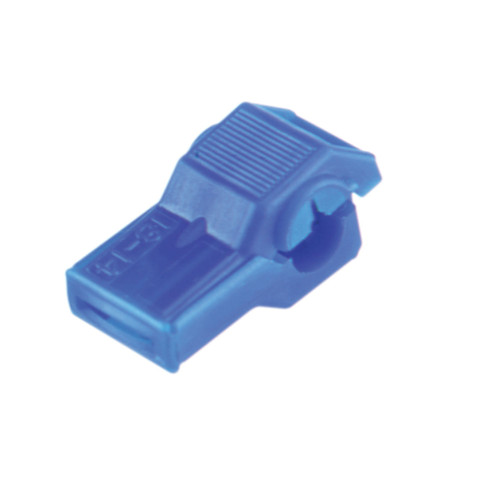 Blue nylon insulated wire tap connector, 18-14 AWG, Molex Part Number  19216-0011