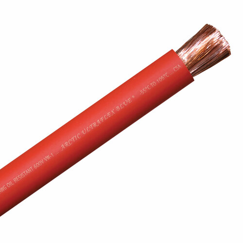 ARCTIC ULTRAFLEX 3/0 RED PER FOOT