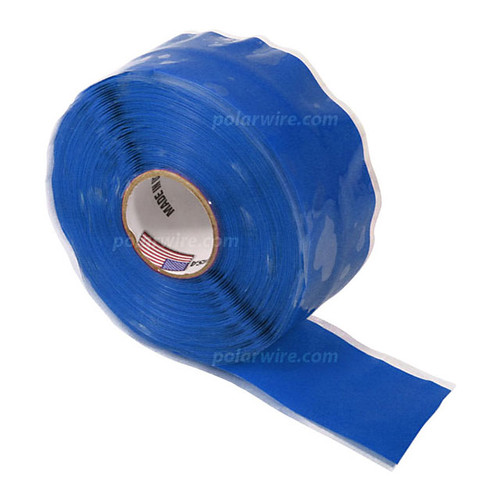 TAPE SILICONE BLUE 1X20'