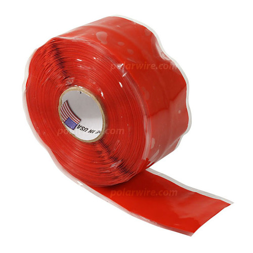TAPE SILICONE RED 1X20'