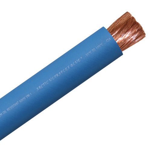 Polar Wire Arctic Ultraflex Blue single conductor wire combines 100% fine strand copper with a tough, flexible, abrasion resistant jacket rated -55°C to 105°C