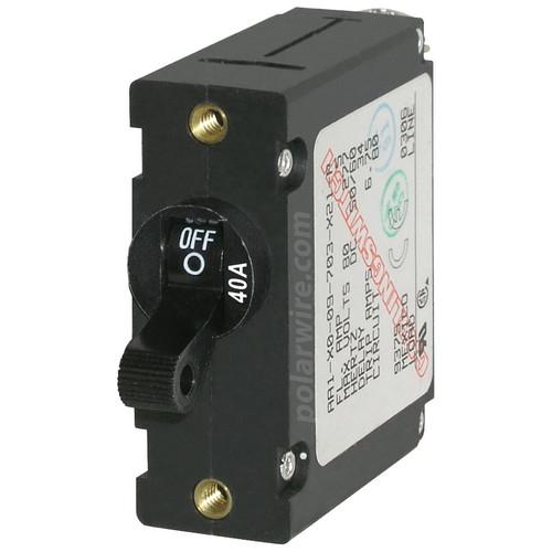 Blue Sea Systems 40 Amp World Circuit Breaker 7224 Black