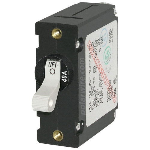 Blue Sea Systems 40 Amp World Circuit Breaker 7226 White