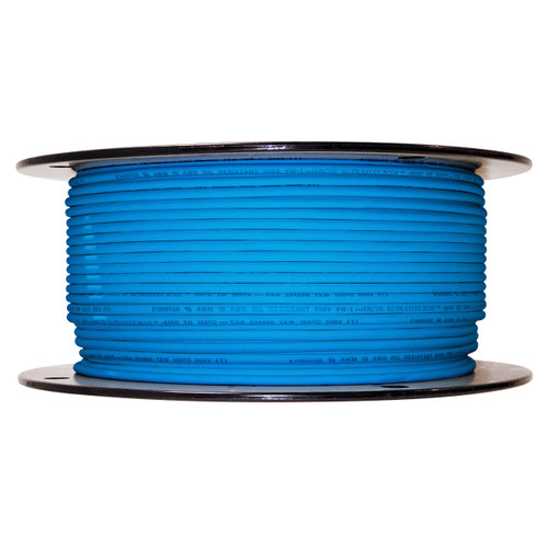 Arctic Ultraflex Blue Single Conductor Wire 100% copper tinned fine strand, 600v applications, 10 AWG Blue, 500 foot spool