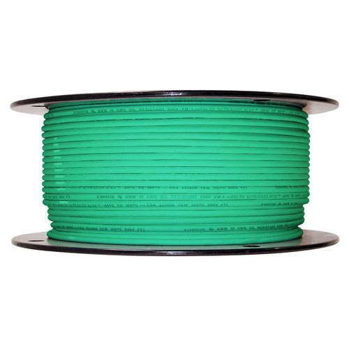 Arctic Ultraflex Blue Single Conductor Wire 100% copper tinned fine strand, 600v applications, 10 AWG Green, 500 foot spool