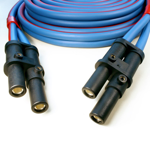 30 foot 1/0 gauge Arctic Ultraflex Blue plug to plug Jump Start cable fitted with J1238 plugs on both ends
