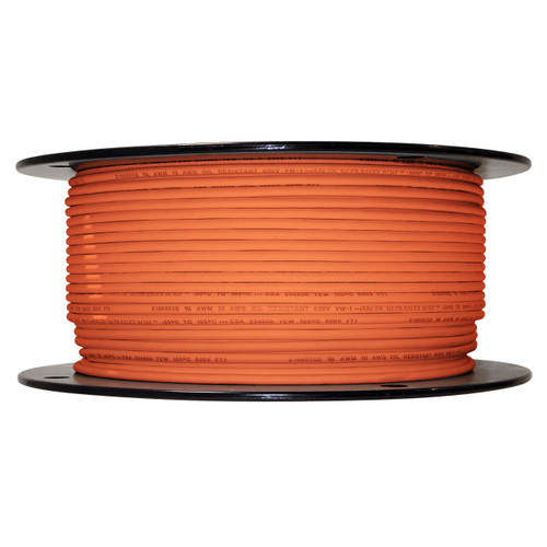10 AWG Arctic Ultraflex Blue Single Conductor Wire 100% copper tinned fine strand, 600v applications, 500 foot spool Orange