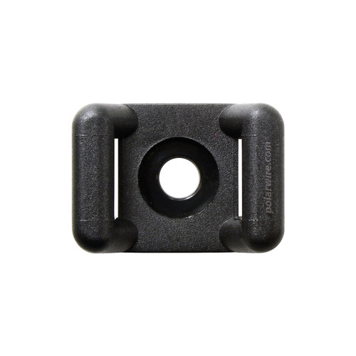CABLE TIE BASE BLACK 18-120 LB PULL #8 SCREW MOUNT 100 QTY
