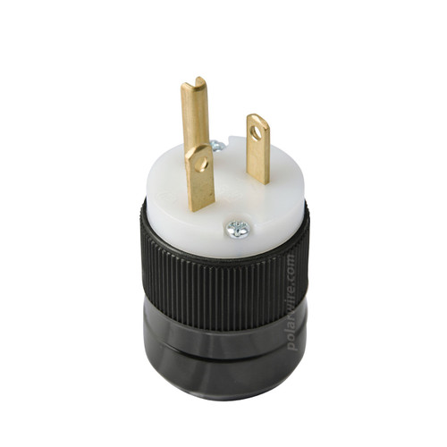 Marinco 5366N standard 20A 125V 5-20P straight blade style non-lighted 2-pole 3-wire cord plug male