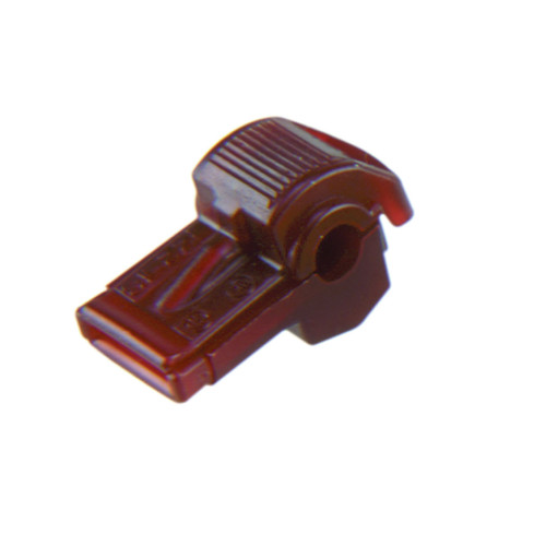 Red nylon insulated wire tap connector, 18-22 AWG, Molex Part Number  19216-0011