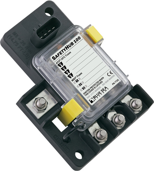 Safetyhub 100 fuse block sealed cover gives IP66 protection