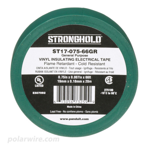 3/4 inch Green PVC Vinyl Electrical Tape Panduit Stronghold