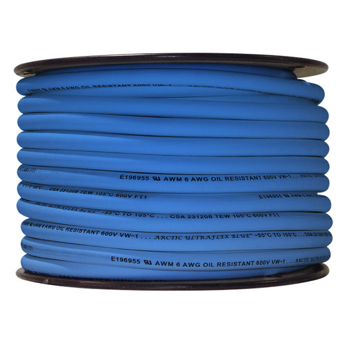 ARCTIC ULTRAFLEX 6GA BLUE 100 FOOT ROLL