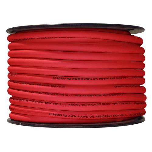 ARCTIC ULTRAFLEX 6GA RED 100 FOOT ROLL