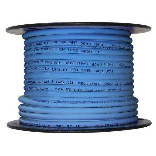 ARCTIC ULTRAFLEX 8GA BLUE 100 FOOT ROLL