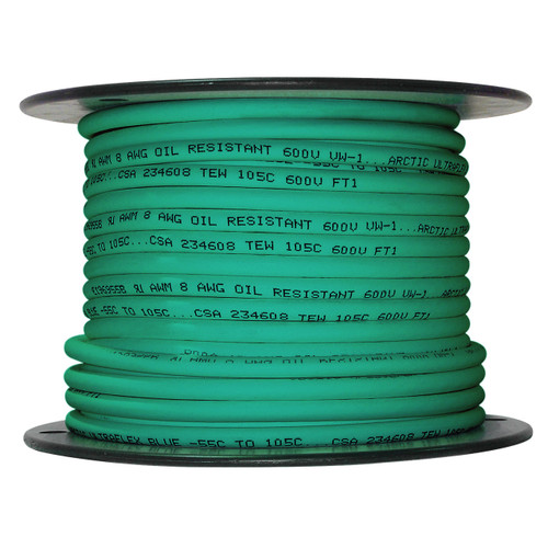 ARCTIC ULTRAFLEX 8GA GREEN 100 FOOT ROLL