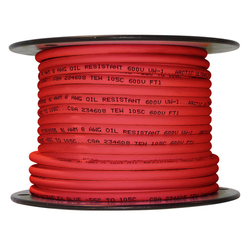 ARCTIC ULTRAFLEX 8GA RED 100 FOOT ROLL