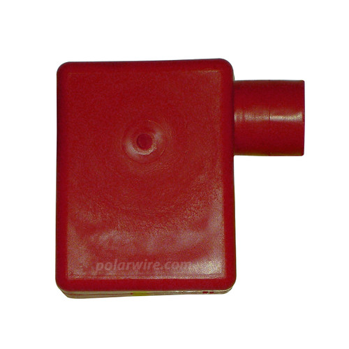 TOP MOUNT LF. 3/0-4/0 RED BATTERY BOOT