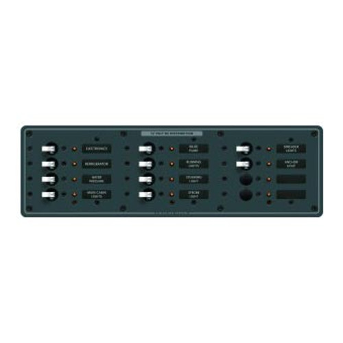 PANEL DC 12 POSITION 12V 50A TOGGLE BRANCH