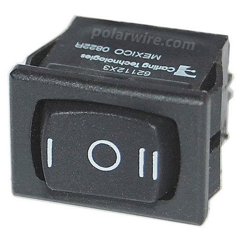 SM PANEL ROCKER SWITCHES SPDT BLACK ON-OFF-(ON)