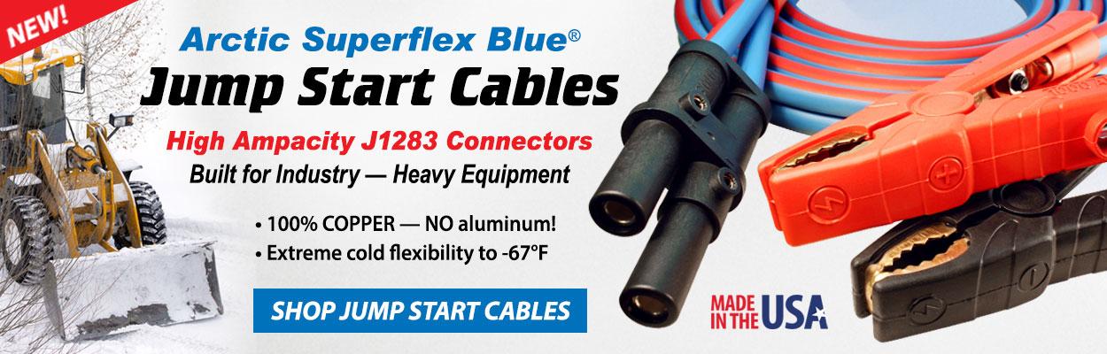 Arctic Superflex Blue J1283 Jump Start Cables for Heavy Equipment