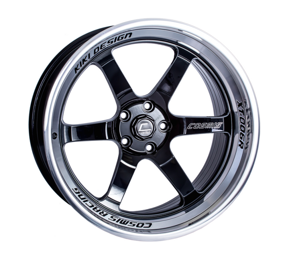 Cosmis Racing XT-006R Black w/ Machined Lip Wheel 20x9.5 +10mm 5x114.3