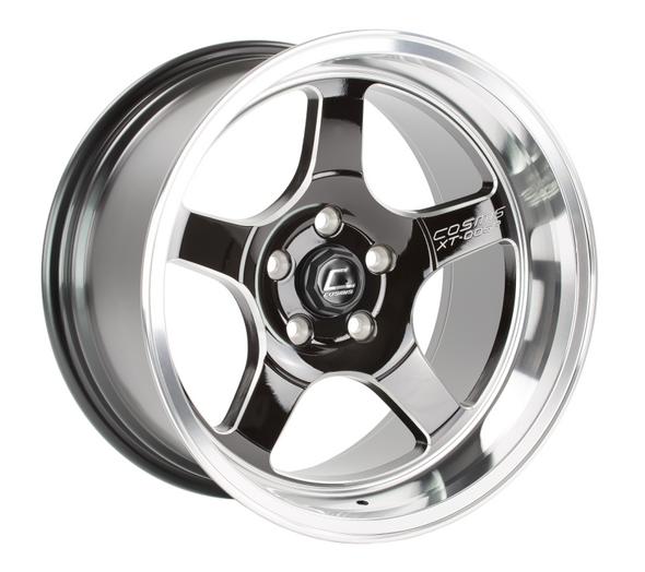 Cosmis Racing XT-005R Black w/ Machined Lip Wheel 17x9.5 +5mm 5x114.3