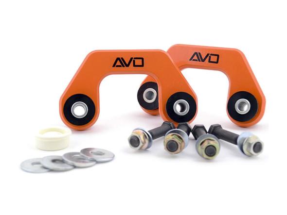 AVO Suspension Rear Solid Endlinks w/Polyurethane - 02-07 Subaru WRX