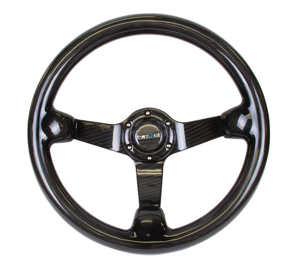 NRG Carbon Fiber Steeering Wheel (350mm) Deep Dish - Full Carbon