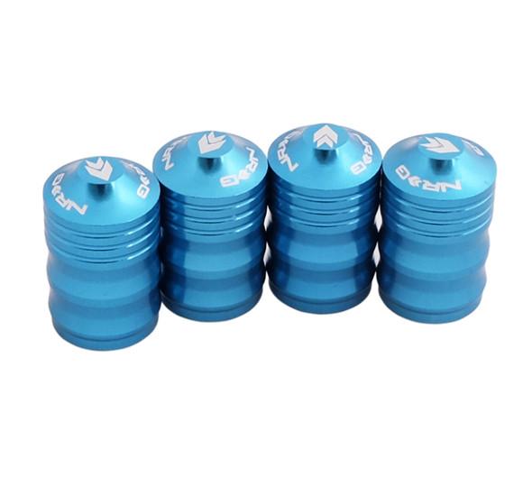 NRG Aluminum Sport Style Valve Stem Cap - Blue
