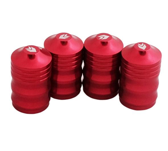 NRG Aluminum Sport Style Valve Stem Cap - Red