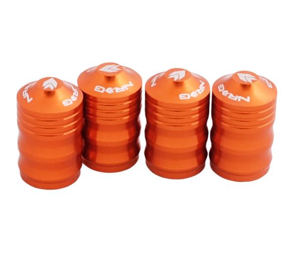 NRG Aluminum Sport Style Valve Stem Cap - Orange