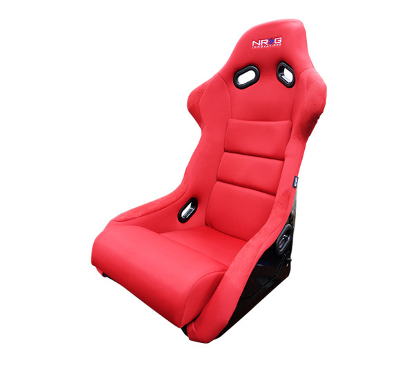 NRG FRP Bucket Seat (Red Cloth) - Large