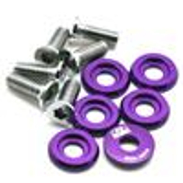 BLOX Racing Small Diameter Fender Washers - Purple